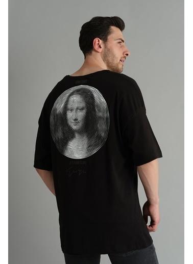Oksit Crash Mona Bol Kesim Oversize Tshirt Siyah